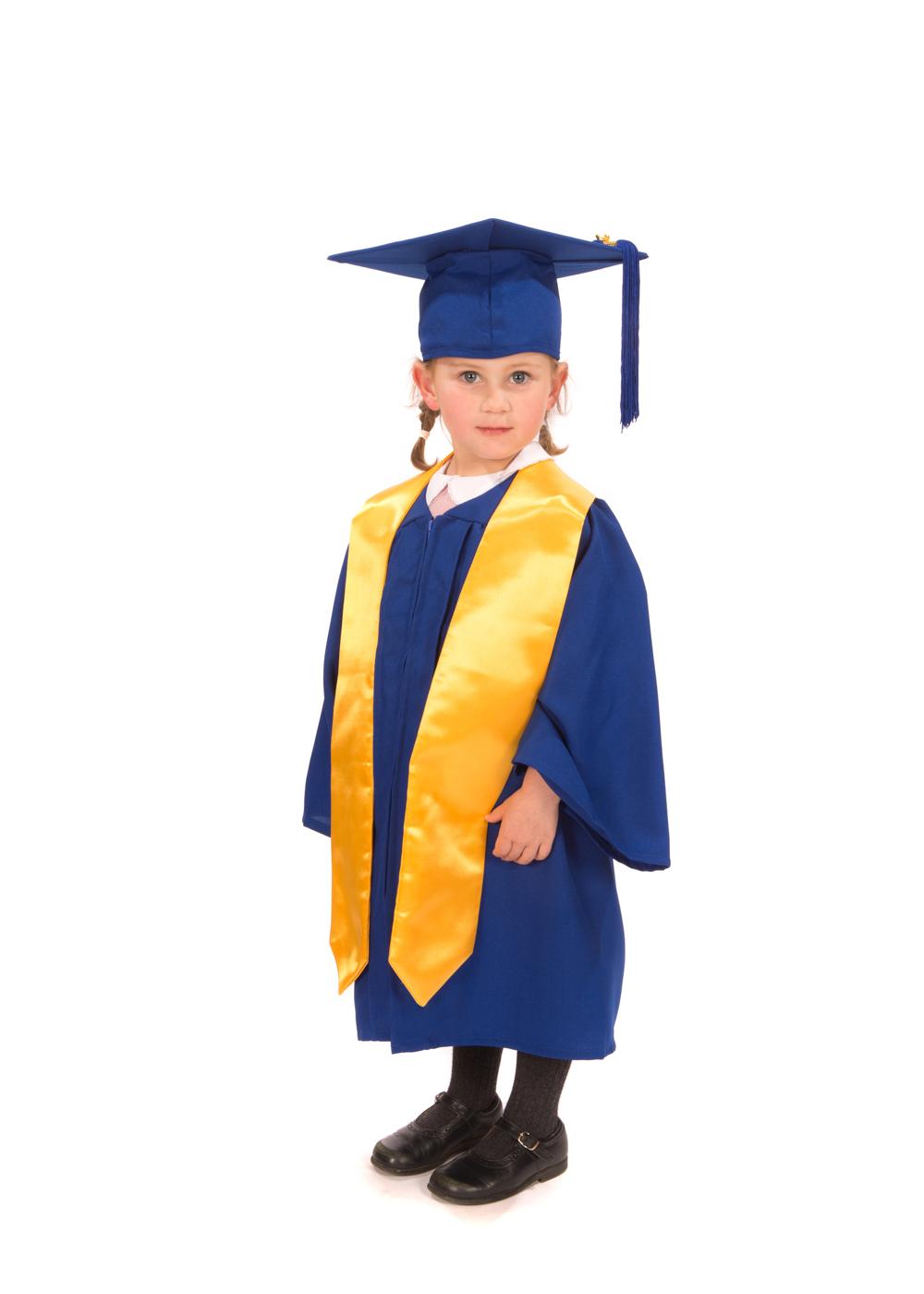 Matte Nursery Graduation Gown Cap And Stole Graduation