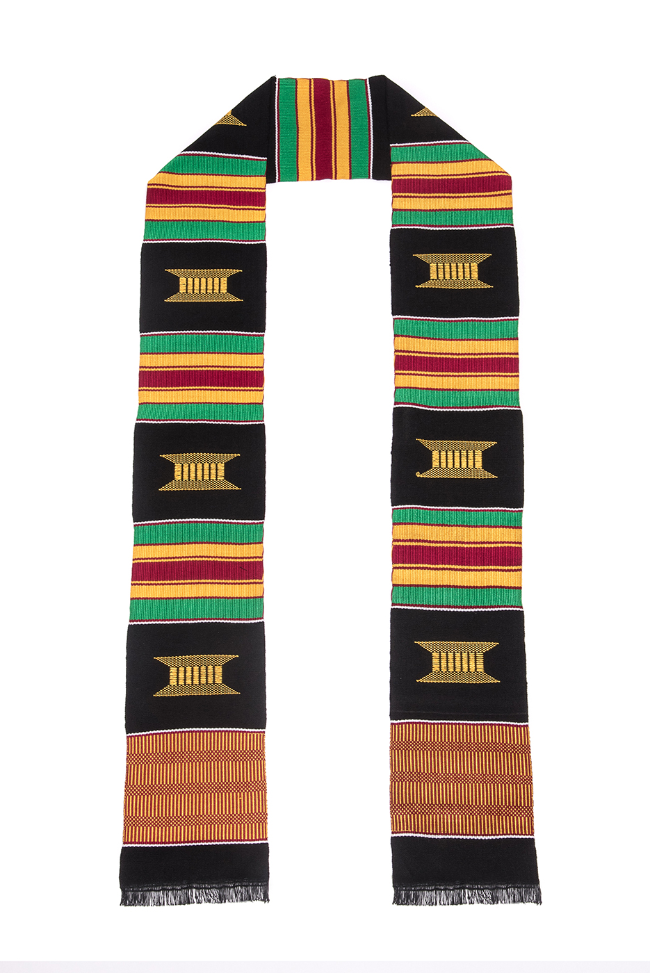 Traditional Kente Cloth Graduation Stoles - Graduation Gowns in ...