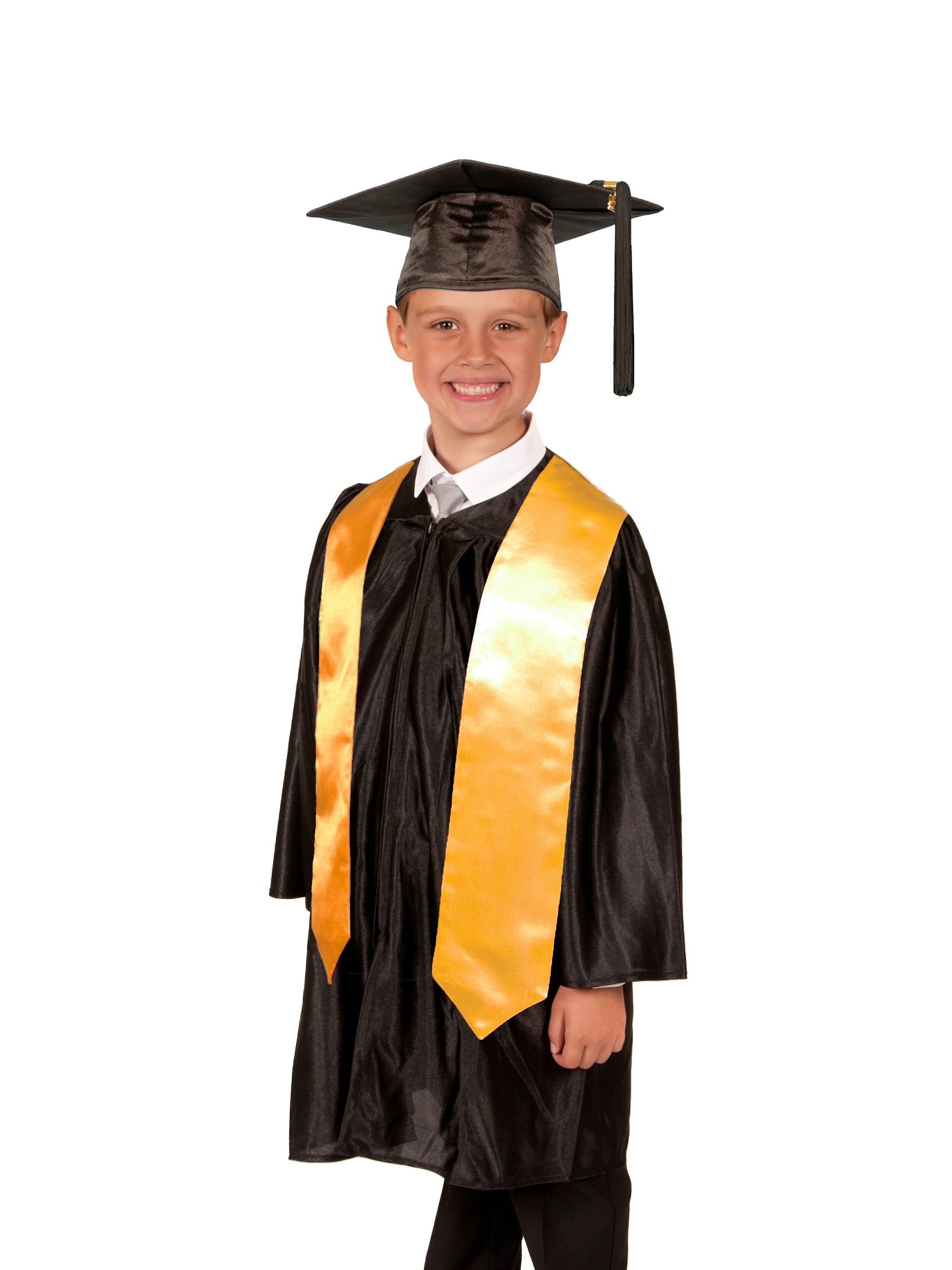Shiny Primary School Graduation Gown Cap And Stole
